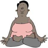 Donna etnica in una posa di yoga Immagini Stock Libere da Diritti