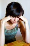 donna faticosa Fotografia Stock Libera da Diritti