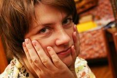 Donna faticosa Fotografia Stock