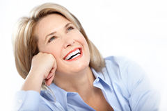 Donna felice Fotografia Stock Libera da Diritti