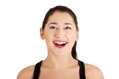 Donna felice Fotografie Stock