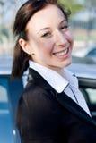 Donna felice Fotografia Stock