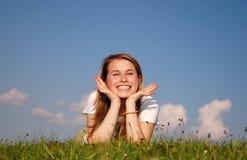 Donna felice Immagini Stock Libere da Diritti