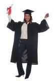 Donna felice alla graduazione Immagine Stock
