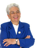 Donna felice anziana Fotografia Stock