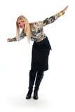 Donna felice con le sue braccia spalancate Immagine Stock Libera da Diritti