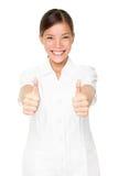 Donna felice del terapista della stazione termale di bellezza riuscita Fotografie Stock