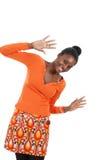 Donna felice dell'afroamericano Fotografie Stock