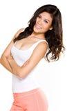 Donna felice dell'asiatico di sorriso Fotografie Stock Libere da Diritti
