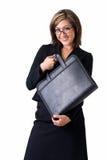 Donna felice di affari Immagini Stock Libere da Diritti