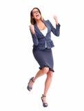 Donna felice di affari. Fotografia Stock Libera da Diritti