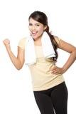 Donna felice di forma fisica Fotografia Stock