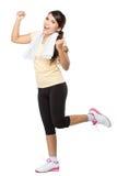 Donna felice di forma fisica Fotografie Stock