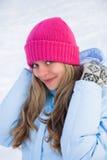 Donna felice di inverno Fotografie Stock Libere da Diritti