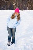 Donna felice di inverno Immagine Stock Libera da Diritti