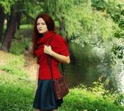 Donna felice di modo nella stagione di autunno Immagini Stock Libere da Diritti