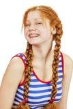 Donna felice di redhead fotografia stock