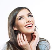 Donna felice sorridente dei giovani Immagini Stock
