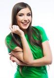 Donna felice sorridente dei giovani Fotografia Stock