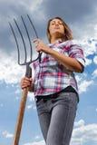 Donna femminile felice Immagini Stock Libere da Diritti