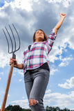 Donna femminile felice Fotografia Stock Libera da Diritti