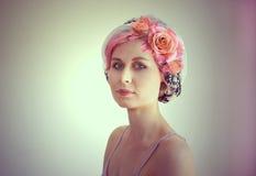 Donna fiorita Foto creativa Immagine Stock