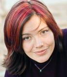 Donna francamente sorridente Fotografie Stock