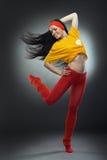 Donna fredda del danzatore fotografia stock