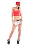Donna fredda del luppolo dell'anca Immagini Stock