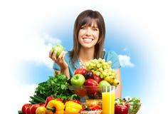 Donna, frutta, natura Fotografia Stock Libera da Diritti