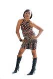 Donna Funky 70s Fotografia Stock Libera da Diritti