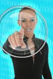 Donna futuristica fotografie stock