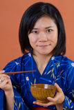 Donna giapponese tradizionale Immagini Stock Libere da Diritti