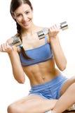 Donna a ginnastica Fotografia Stock