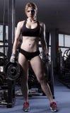 Donna in ginnastica Fotografia Stock