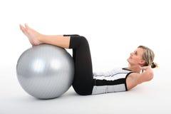 Donna in ginnastica Fotografie Stock