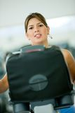 Donna a ginnastica - cardio Immagine Stock Libera da Diritti