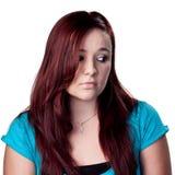 Donna giovane di pensiero fotografia stock libera da diritti