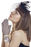 Donna giovane di preghiera Fotografia Stock