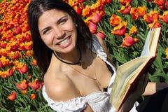 Donna giovane di risata Immagini Stock Libere da Diritti