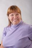 Donna grassa sorridente Fotografia Stock Libera da Diritti