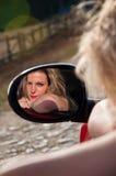Donna graziosa Fotografie Stock