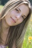 Donna graziosa Fotografia Stock