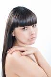 Donna graziosa con capelli e pelle sani Immagine Stock Libera da Diritti