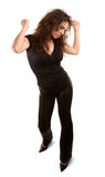 Donna graziosa con capelli selvaggi Fotografia Stock Libera da Diritti