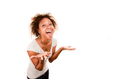 Donna graziosa del African-American Immagine Stock