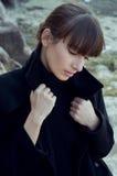 Donna graziosa del auatumn Fotografia Stock