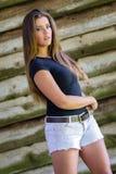Donna graziosa del Brunette fotografie stock libere da diritti