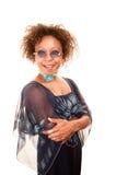 Donna graziosa dell'afroamericano Fotografie Stock