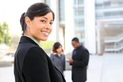 donna graziosa di affari dell'afroamericano Fotografia Stock